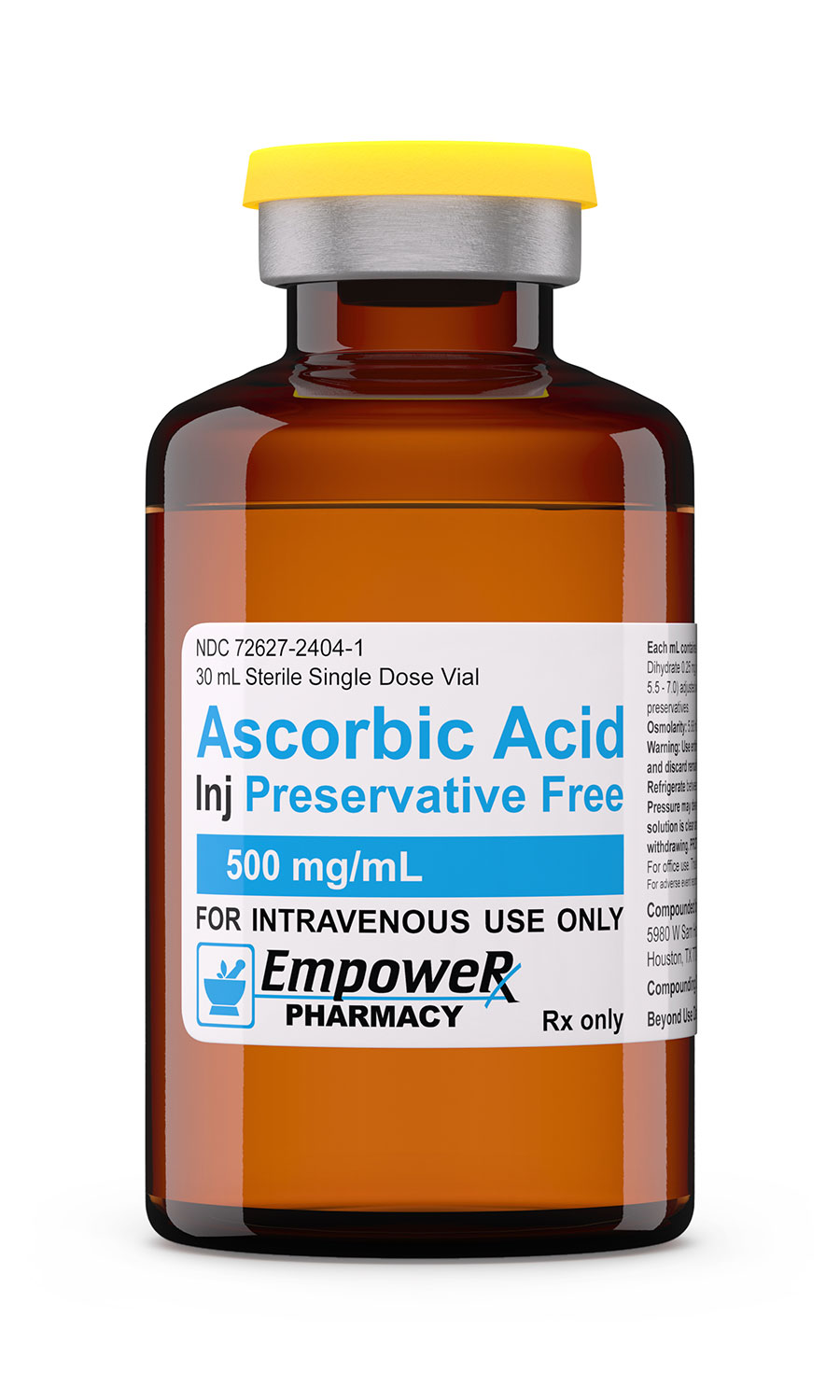 Absorbic Acid Vitamin C Injection Empower Pharmacy