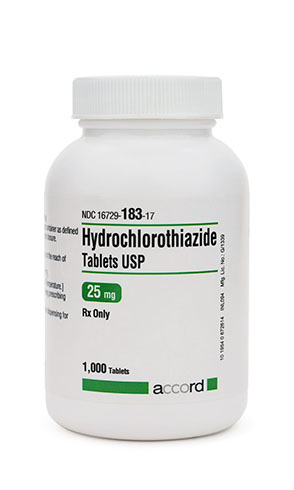 Hydrochlorothiazide 25 mg Tablets